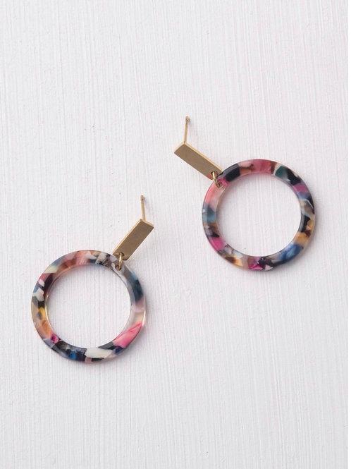 Primrose Multicolored Resin Earrings