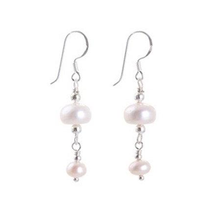 Freshwater Pearls White Earrings