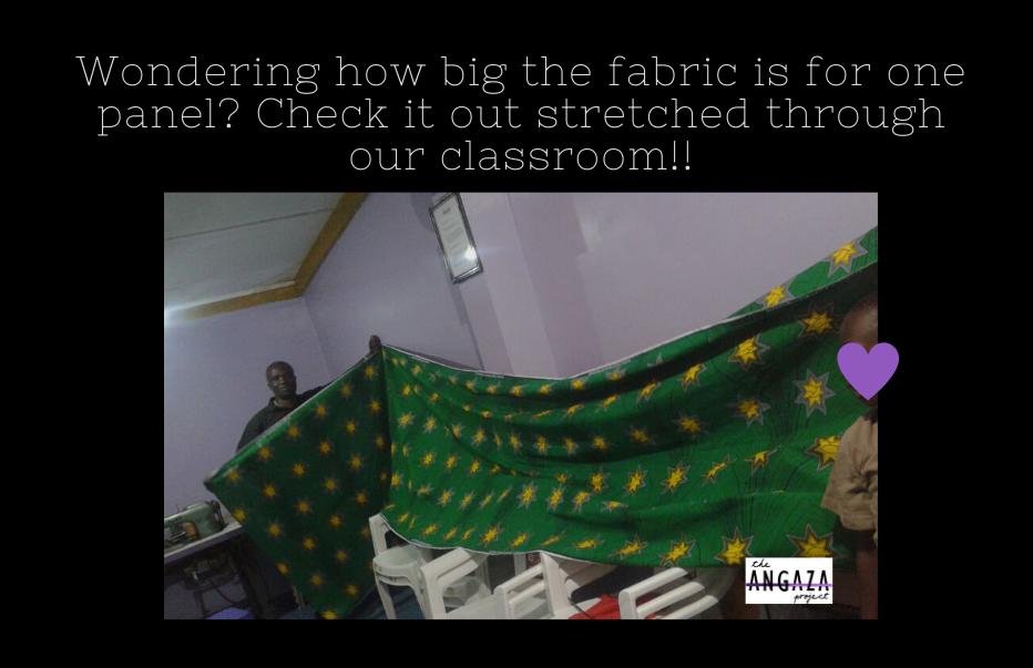 Fabric length. FB post