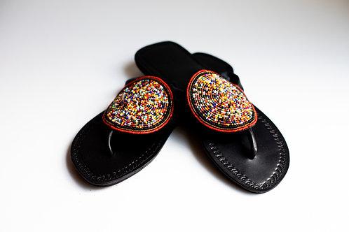 Multicolor Circle Medallion Sandal