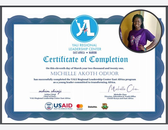 Keep Shining! Learn more about Michelle's YALI Training!