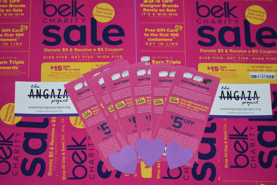 Belk Charity Sale 2019 | The Angaza Project is part of it this year!