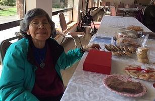 Olga Saban helping at Sweet Heart Bake S