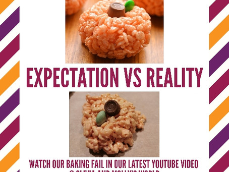 Halloween baking FAIL - Expectation Vs Reality - screwing up a simple recipe!