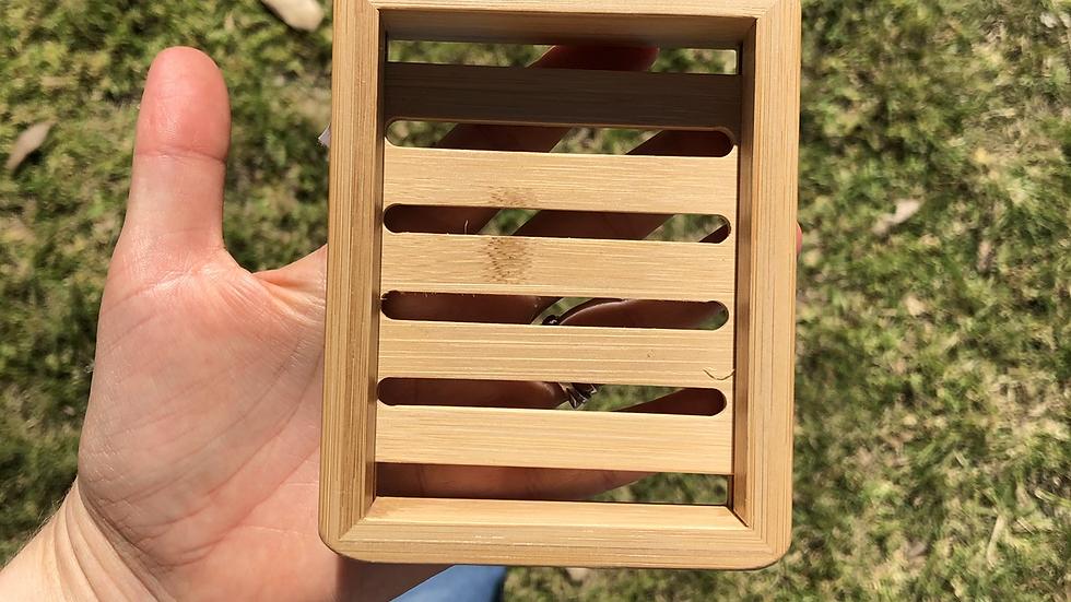 Rectangle Bamboo Soap Dish