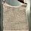 Thumbnail: Handmade Cotton Shopping Bag - recycled leather handle