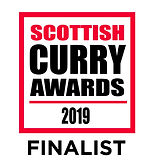 """Scottish Curry Award 2019 Finalist """"Best In Glasgow"""""""