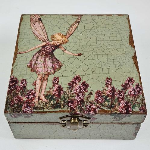 Jo Verity Decoupage Box Fairy with wild Thyme