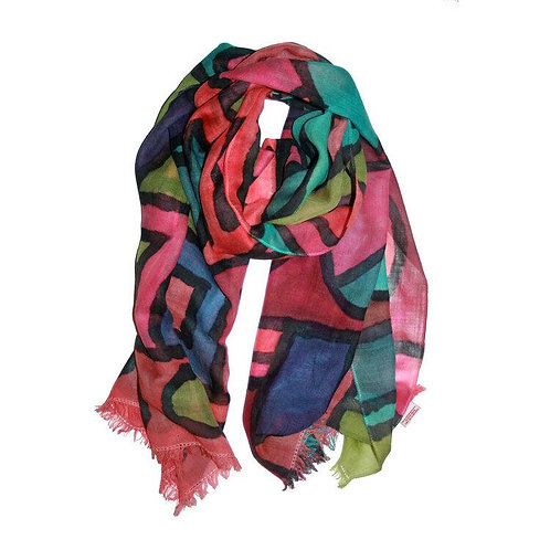 Shelley Faye Lazar Pashmina in Tones of the Ndebele
