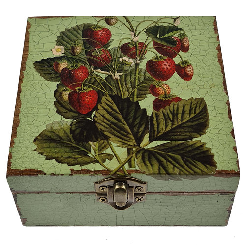 Jo Verity Decoupage Box Midsummer Strawberries