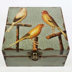 three yellow birds
