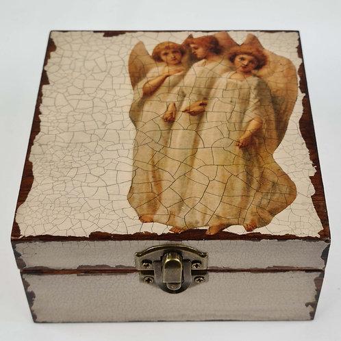 Jo Verity Decoupage Box Midsummer Angels