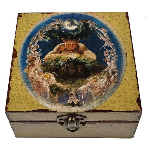 Jo Verity Decoupage Box Pan with the Fairies