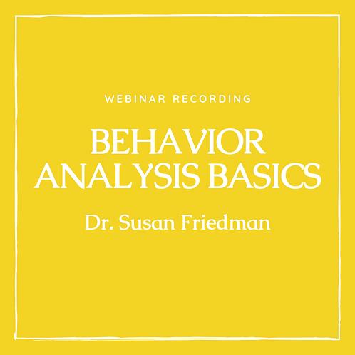 Webinar Recording Dr. Susan Friedman Sept 29, 2018