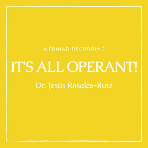 3rd Webinar recording with Dr. Jesús Rosales-Ruiz Nov. 11, 2018