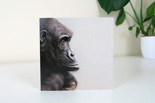 The Western Gorilla - Greetings Card