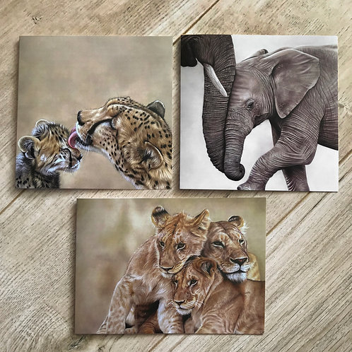 Mother and Baby Greetings Cards - Pack of Six