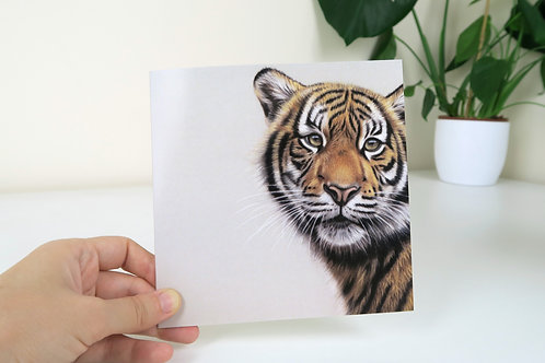 The Sumatran Tiger - Greetings Card