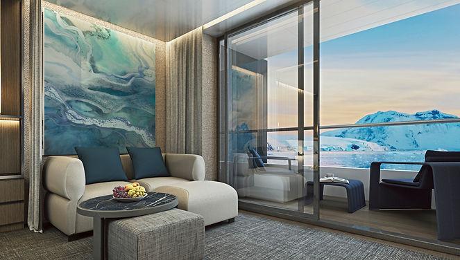 Scenic Eclipse - Verandah Suite Lounge 2