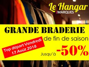 GRANDE BRADERIE jusqu'à -50% au Hangar des Marques - Plouharnel