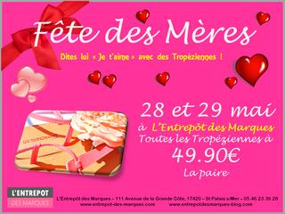 """Dites lui """"Je t'aime"""" avec des Tropéziennes ! Promo à L'Entrepôt des Marques - St"""