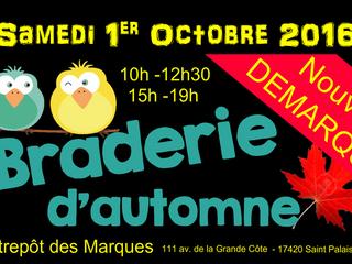 NOUVELLE DEMARQUE et nouveaux horaires à L'Entrepôt des Marques - St Palais s/Mer