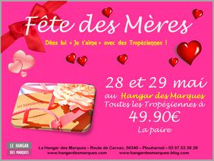 """Dites lui """"Je t'aime"""" avec des Tropéziennes ! Promo au Hangar des Marques - Plouharnel"""