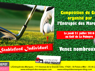 Compétition de Golf organisée par L'Entrepôt des Marques - St Palais s/Mer