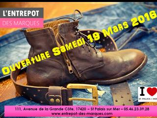 Samedi 18 Mars 2016, ouverture de L'Entrepôt des Marques pour une nouvelle saison !