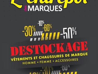 On n'oublie pas que c'est du DESTOKAGE permanent à L'Entrepôt des Marques - St Palais s/