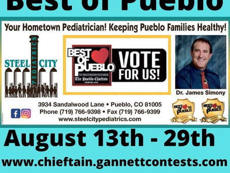Vote for Dr. Simony for Best of Pueblo 2021!  We are very appreciative of your support!