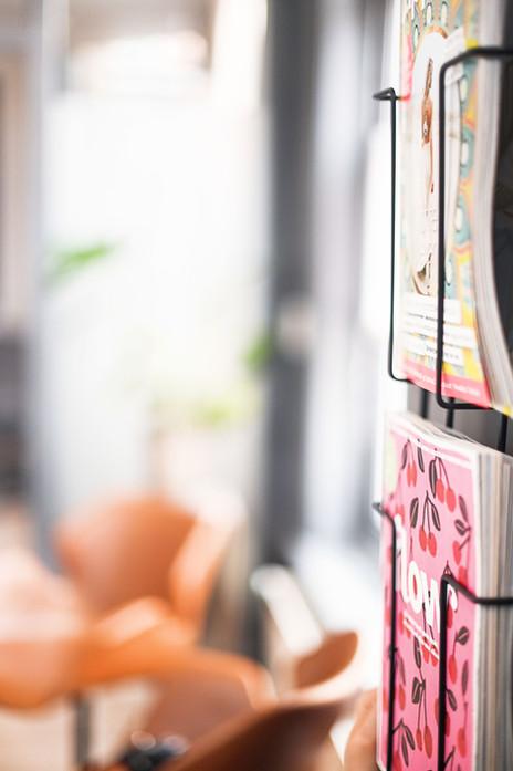 Tijdschriften in de wachtkamer