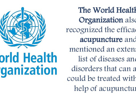 WHO recognizes effectiveness of Acupuncture