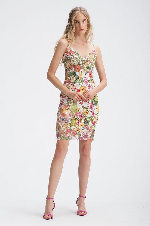 Mini Satin Dress IB131
