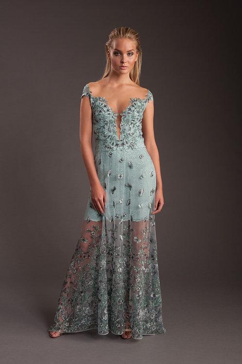 Butterfly Summer Lace Dress 4096