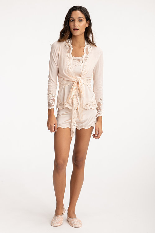 Nude Cashmere Cardigan Front View