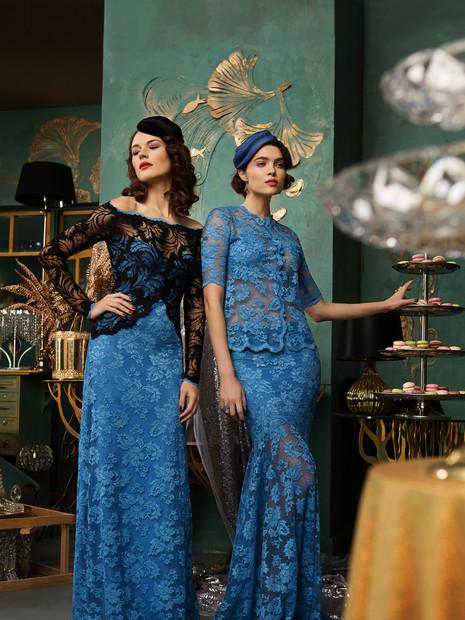 2912 (left) + 2649SW (blouse)+ 2158 (skirt) (right)