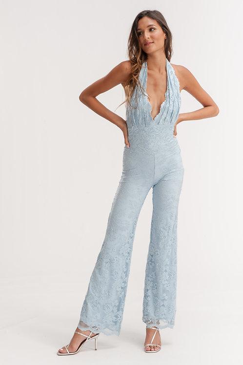 Open Back Lace Jumpsuit