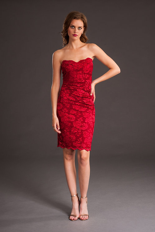 Jester Red Lace Dress 4705