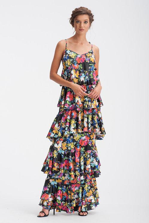 Satin Long Dress IB124