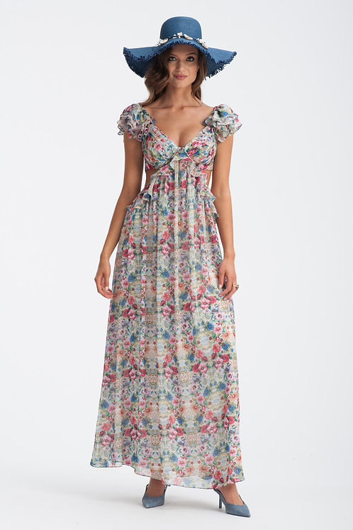 Floral Maxi Gown IB100