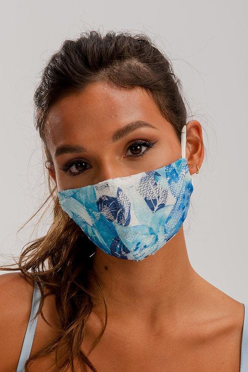 Face Mask Blue & White ME01