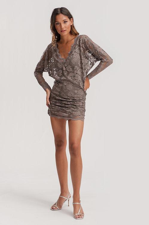 Short Lace Tunic Dress
