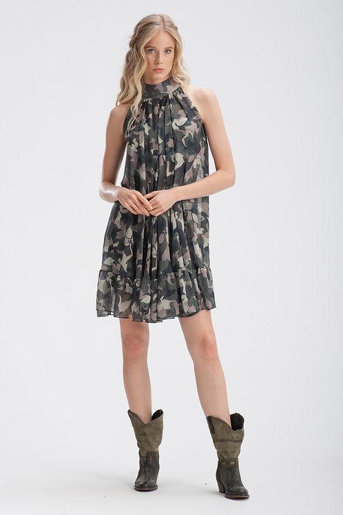 Camouflage Chiffon Dress IB110