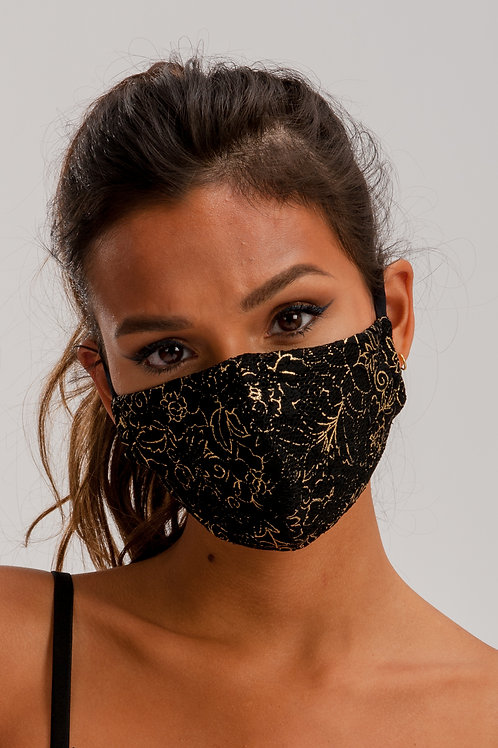 Face Mask Gold/Black ME01