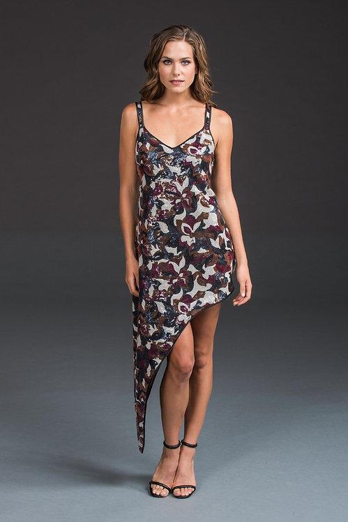 Sequin Asymmetric Dress IB013