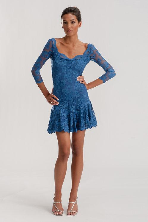 Open Back Lace Dress 1236