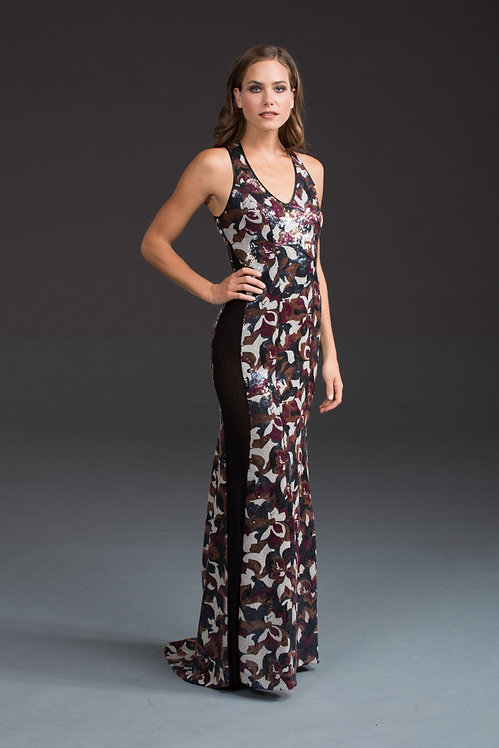 Sequin Military Gown IB025