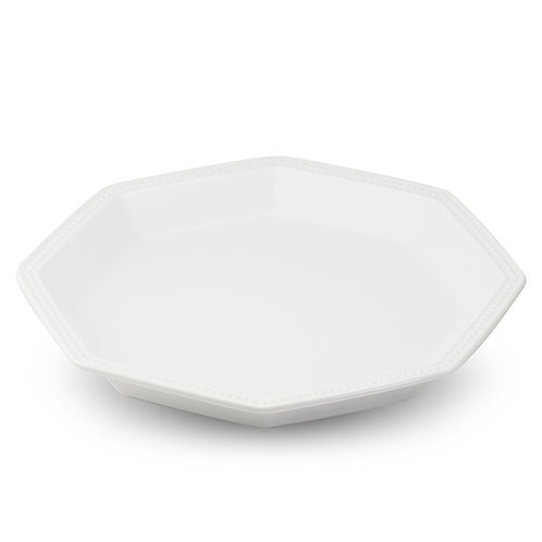 瑞典【GREEGREEN】 匈牙利八角陶瓷點心盤 (珍珠白)