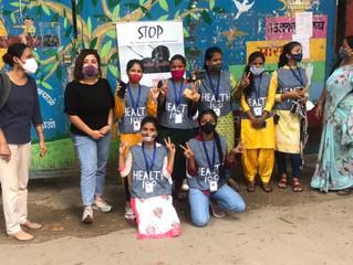 Corona-Impfaktion und Gesundheitsprojekt in Delhi